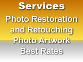 Data Shine - SERVICES   Photograph Restoration, Editing and Retouching   Photo Artwork Preparation for Gifts   - Plates, Mugs, T-Shirts  Photo Artwork for Awards and Merchandising  Best Rates!