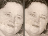 Click for an Example of   Photographic Restoration & Repair   services provided by Data Shine